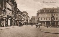 Südlicher Marktplatz mit Geschäfte vor u nach 1913